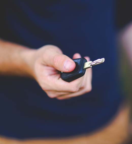 vehicle delivery and collection service, with keys